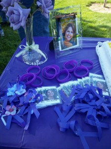 Purple Ribbons at an Event for Susan